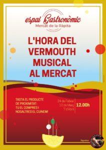 L'Hora del Vermut Musical al mercat de La Ràpita @ Espai Gastronòmic del mercat municipal
