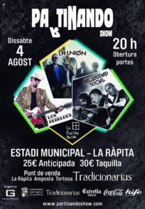 La Unión + Seguridad Social + Los Rebeldes en concert a La Ràpita @ La Devesa