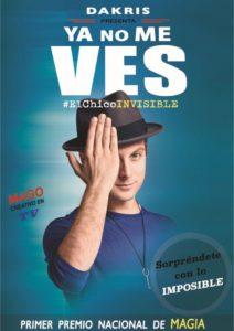 Espectacle familiar «Ya no me ves» del Chico Invisible a Ulldecona @ Teatre Orfeó Montsià