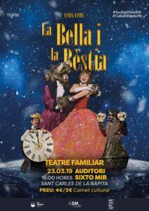 Espectacle familiar «La bella i la bèstia» a La Ràpita @ Auditori Sixto Mir