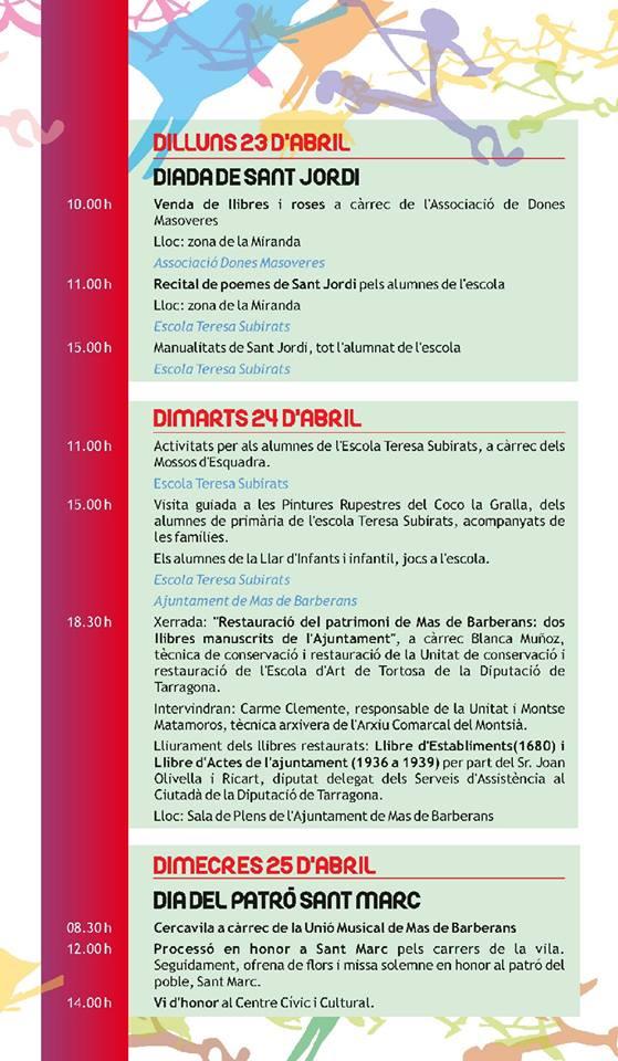 Diada de Sant Jordi al Mas de Barberans