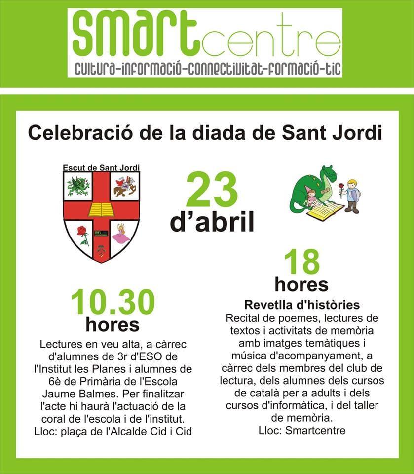 Celebració de la Diada de Sant Jordi a Santa Bàrbara
