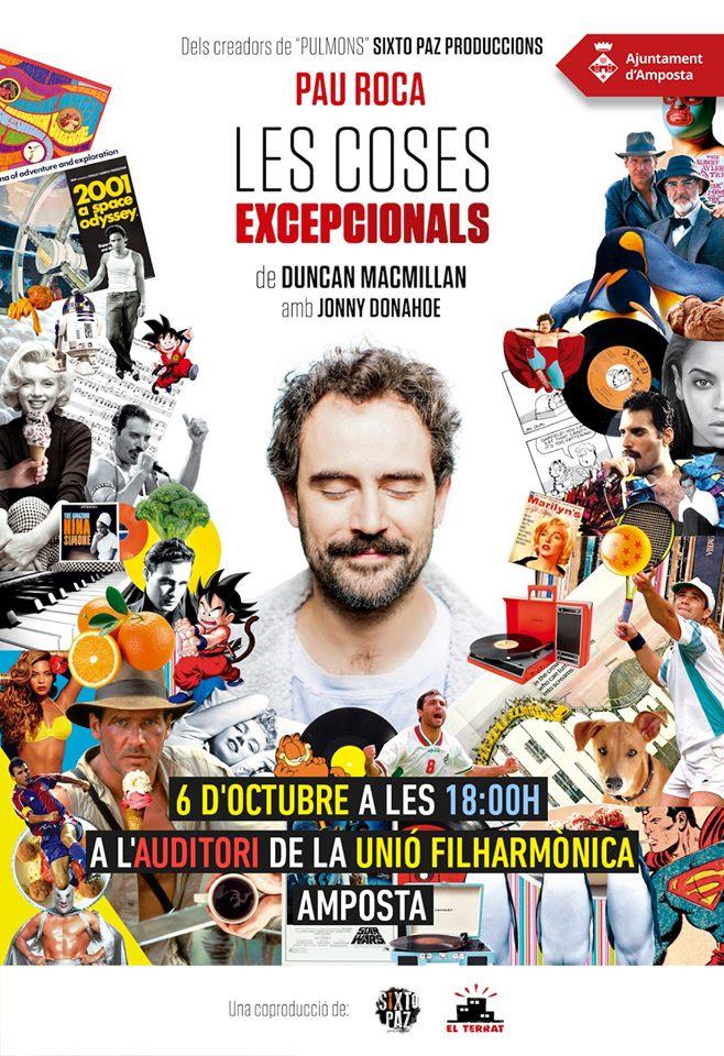 Tarda de teatre amb «Les coses excepcionals» a Amposta @ Auditori de la Unió Filharmònica