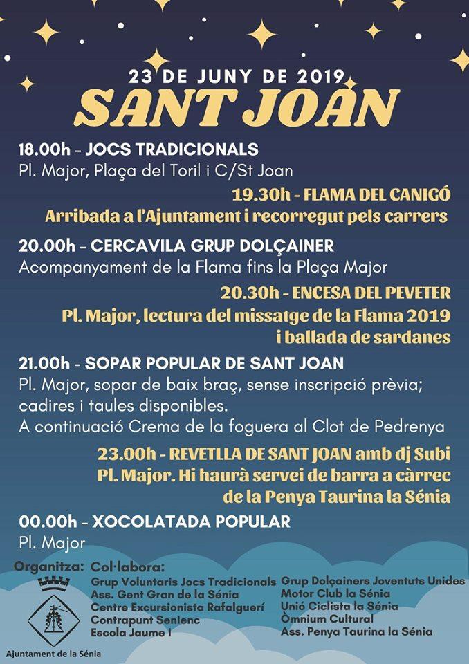 Sant Joan a La Sénia @ Diversos emplaçaments