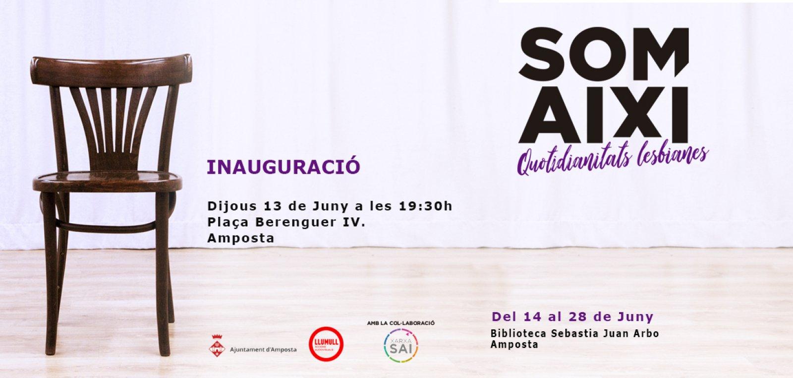 Expo «Som així! Quotidianitats lesbianes» a Amposta @ Biblioteca Sebastià Juan Arbó