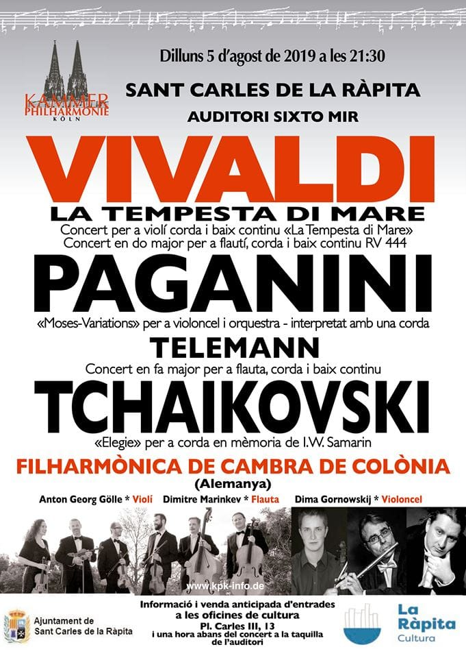 Concert de l'Orquestra filharmònica de cambra de Colònia a la Ràpita