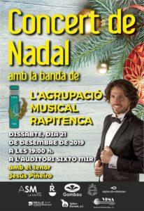 Concert de Nadal de l'Agrupació Musical Rapitenca amb el tenor Jesús Piñeiro @ Auditori Sixto Mir