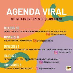 Agenda viral a la Sénia