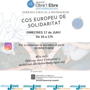 Xerrada virtual a l'Instagram sobre el Cos Europeu de Solidaritat
