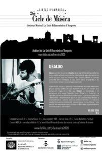 26è Cicle de Música Ciutat d'Amposta: UBALDO @ Auditori de la Unió Filharmònica d'Amposta